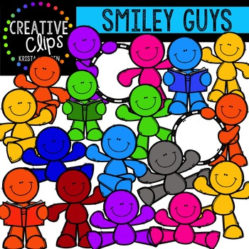 Smiley Guys {Creative Clips Digital Clipart}