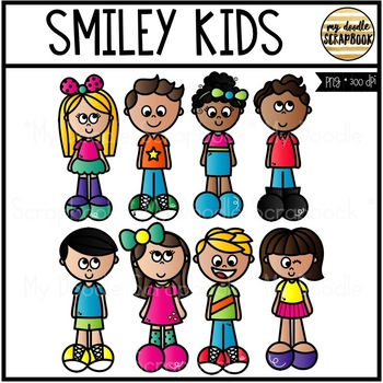 Smiley Kids (Clip Art for Personal & Commercial Use)
