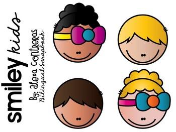 Smiley Kids Clip Art FREEBIE