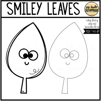 Smiley Leaves (Clip Art for Personal & Commercial Use)
