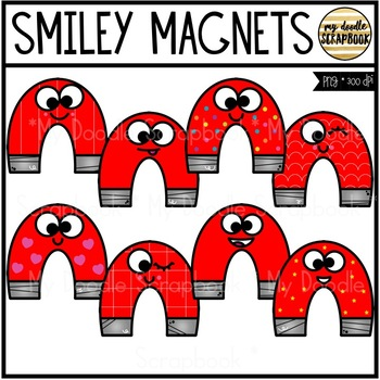 Smiley Magnets (Clip Art for Personal & Commercial Use)