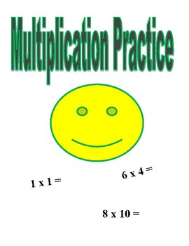 Smiley Multiplication Practice