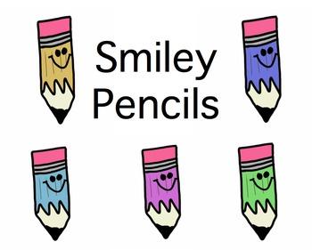 Smiley Pencil Clip Art