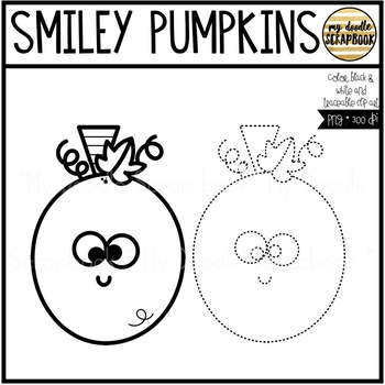 Smiley Pumpkins (Clip Art for Personal & Commercial Use)