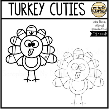 Turkey Cuties (Clip Art for Personal & Commercial Use)