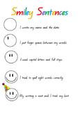Smiley Sentence Checklist