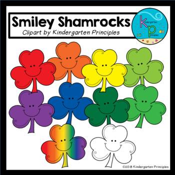 Smiley Shamrocks Clipart Set