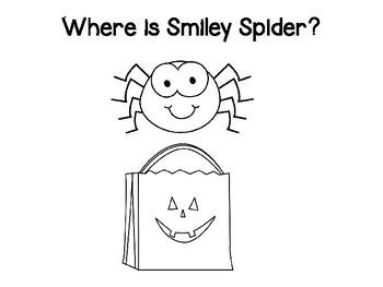 Smiley Spider Preposition Book #spookysale