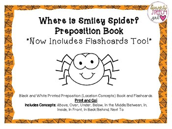 Smiley Spider Preposition Book