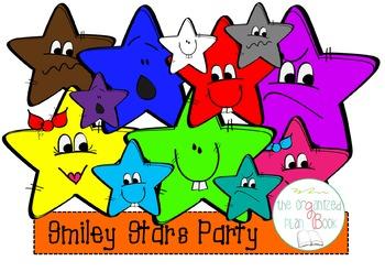 Smiley Stars Clip Art