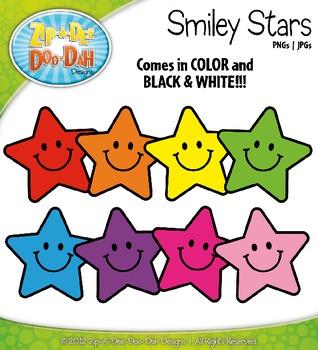 Smiley Stars Clipart {Zip-A-Dee-Doo-Dah Designs}