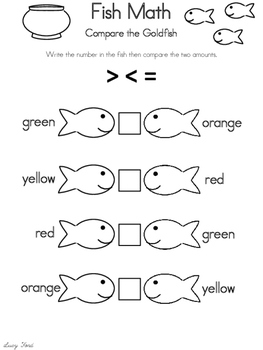 Smiley Swimmers Goldfish Math