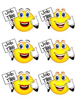 Smiley Themed Classroom Jobs