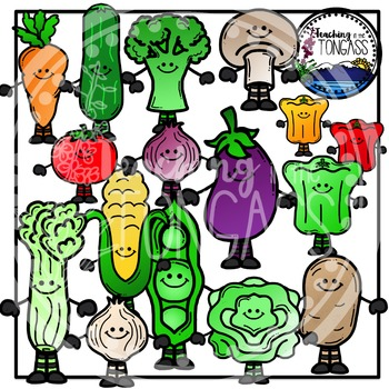 Vegetable Clipart (Smiley Version)