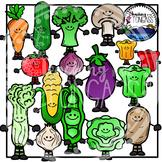 Vegetable Clipart (Smiley Version)