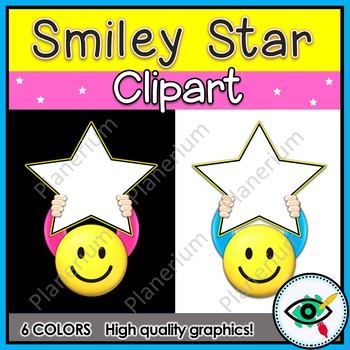Smiley stars clip art