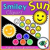 Smiley sun clipart
