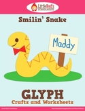 Smilin' Snake Glyph Craft and Worksheets