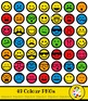 Smiling Face Emoticons Emoji Clip Art Mega Pack