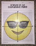 Smiling Face with Sunglasses EMOJI (Graphing on the Coordinate Plane)