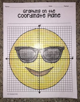 Smiling Face with Sunglasses EMOJI (Graphing on the Coordi