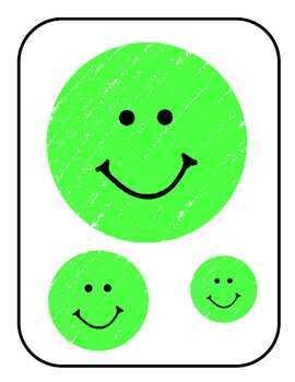 Smiling Faces  File Folder Game