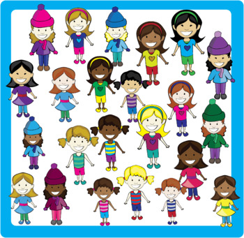 Smiling Kids Clipart Bundle