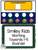 Smiling Kids Working Towards 1-5 Visual Reinforcement Board