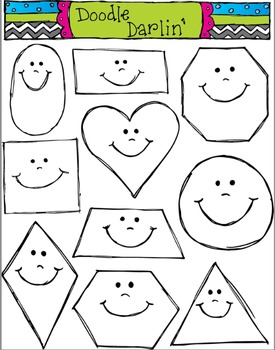 Smiling Shapes Stamps