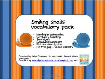 Smiling Snails Vocabulary Pack