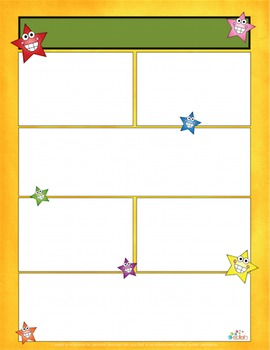 Smiling Stars Newsletter for Word