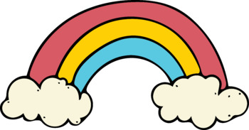 Smiling Sunshine and Rainbows Clip Art Kit