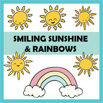 Smiling Sunshine and Rainbows Clip Art Kit