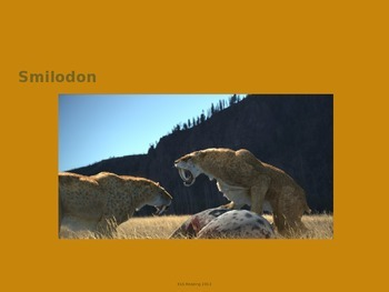 Smilodon - extinct - Power Point - Information History Facts Pictures