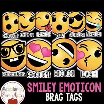 Smiley Emoticon Brag Tags