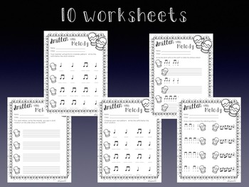 Smitten with Melody, PDFs and Worksheets to practice la