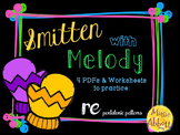 Smitten with Melody, PDFs and Worksheets to practice re (pentatonic patterns)
