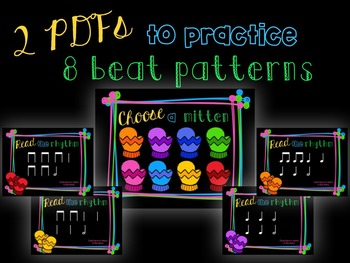 Smitten with Rhythm, PDFs and worksheets for practicing half note