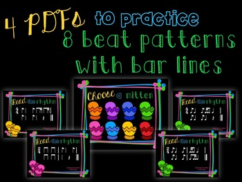 Smitten with Rhythm, PDFs and worksheets for practicing syncopa