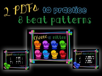 Smitten with Rhythm, PDFs and worksheets for practicing tam-ti