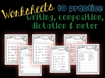 Smitten with Rhythm, PDFs and worksheets for practicing tika-ti/ tiri-ti
