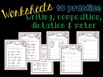Smitten with Rhythm, PDFs and worksheets for practicing tika-tika/ tiri-tiri