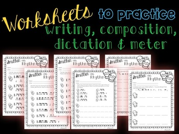 Smitten with Rhythm, PDFs and worksheets for practicing tim-ka