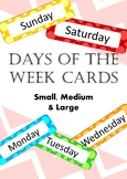Sml, Med and Lrg Days of the Week Cards Bundle