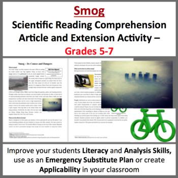 Smog - Science Reading Article - Grades 5-7