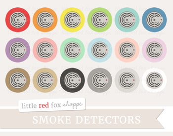 Smoke Detector Clipart; Fire Alarm, Safety, Household