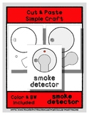 Smoke Detector - Cut & Paste Craft - Super Easy Perfect fo