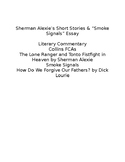 Smoke Signals & Sherman Alexie Commentary Essay