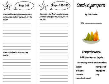 Smokejumpers Trifold - Storytown 6th Grade Unit 2 Week 4