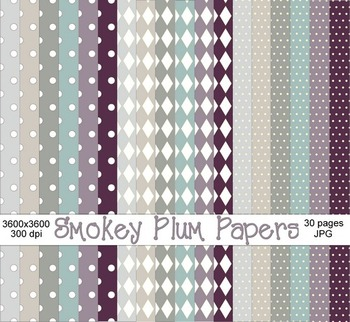 Smokey Plum Digital Papers